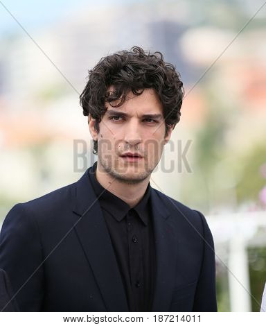 Louis Garrel attends the 'Ismael's Ghosts (Les Fantomes d'Ismael)' photocall during the 70th annual Cannes Film Festival at Palais des Festivals on May 17, 2017 in Cannes, France.