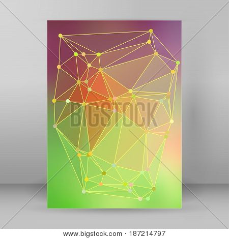 Modern Triangle Background 3D Effect Cover Page Brochure A4 Format27