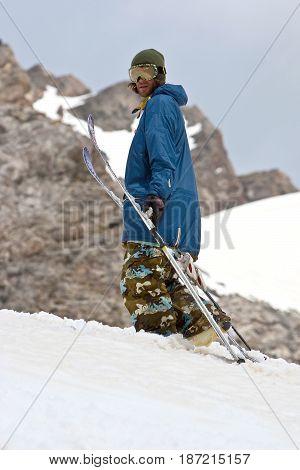 Freerider in Caucasus Mountains Elbrus summer 2010