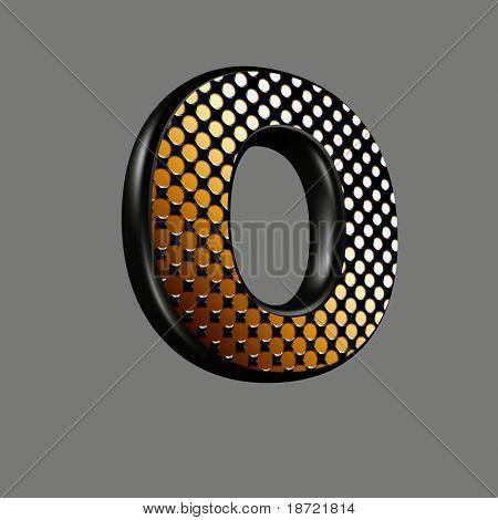 letra 3D com textura de meio-tom abstrato - O