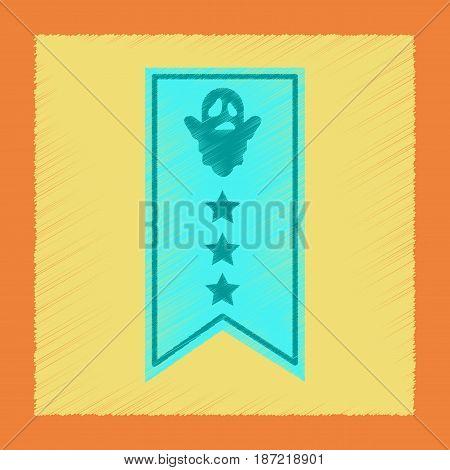 flat shading style icon of halloween garland