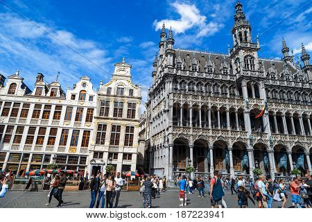 Grand Markt Square In Brussels