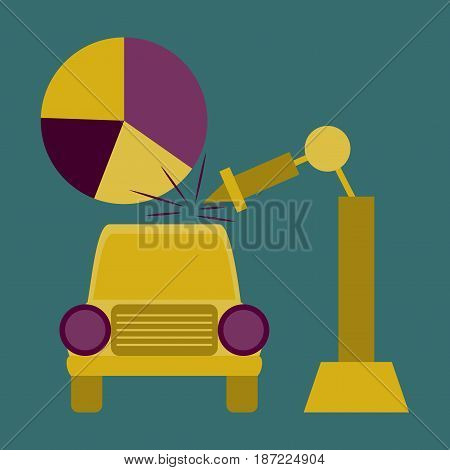 flat icon on stylish background Automotive industry