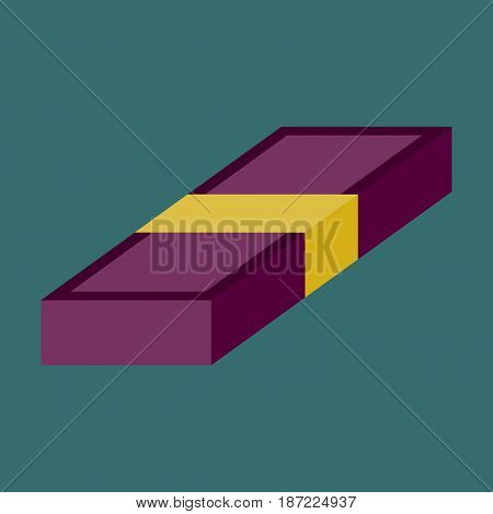flat icon on stylish background Bundle of money