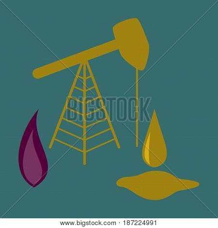 flat icon on stylish background Gas and oil production