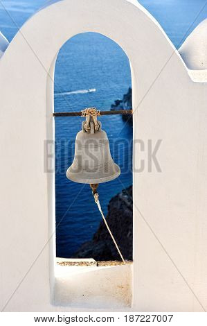A churchbell Santorini Greece Santorini Oia village Cyclades Greece