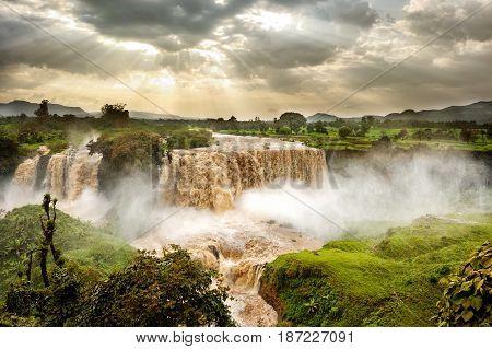 Blue Nile Falls Tis Issat Ethiopia Africa