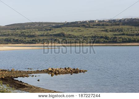 The Reservoir Of Reinosa In The Province Of Cantabria