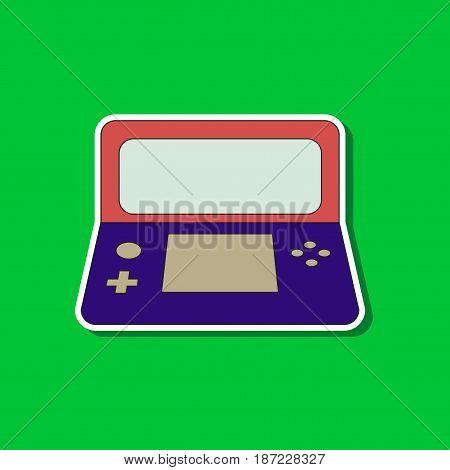 flat icon on stylish background game console