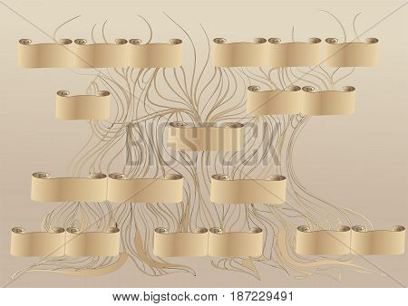 genealogy tree. abstract family tree vector illustration