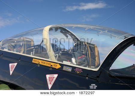 Cockpit Of A Hawk Jet Plane