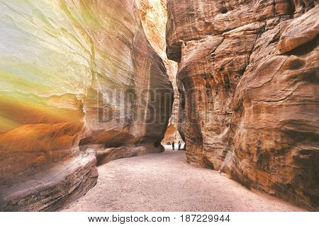 The Sig. Main entrance to the ancient city of Petra. Southern Jordan