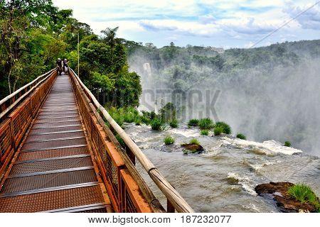 Iguazu Falls (aka Iguassu Falls or Cataratas del Iguazu) Misiones Province Argentina