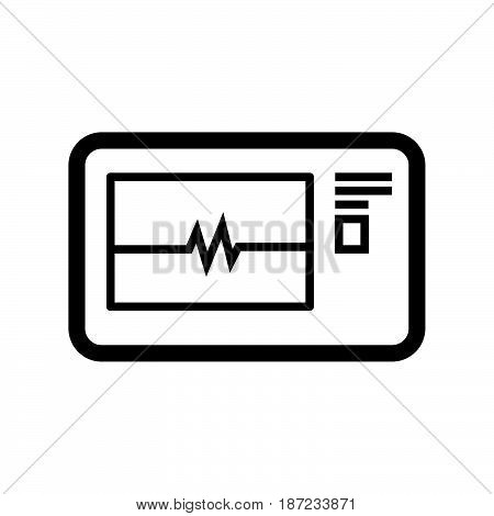 a Simple thin line electrocardiogram icon vector