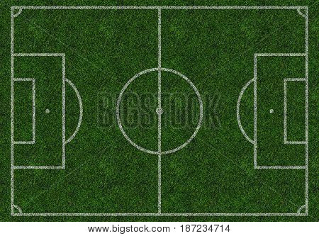 Football field soccer football collage pitch ground isolated; top view