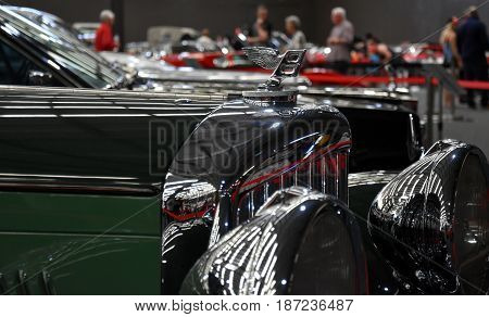 Gosford Australia - Apr 30 2017. Bentley is a British manufacturer and marketer of luxury cars. A truly amazing classic car collection in Gosford Classic Car Museum.
