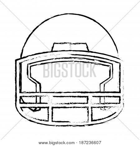 american footbal helmet equipment protection vector illustration
