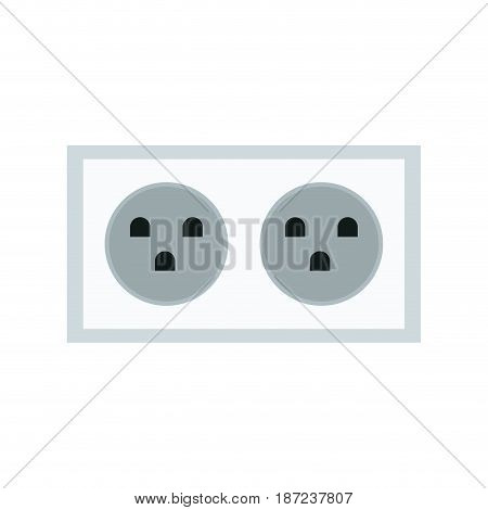 electric double socket energy power vector illustration