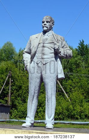 Monumet of Lenin.May 19, 2017.Chernobyl.Kiev region.Ukraine