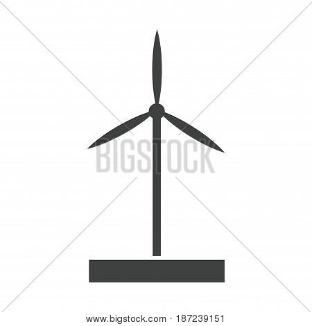 wind turbine tower energy recycle design pictogram vector illustration