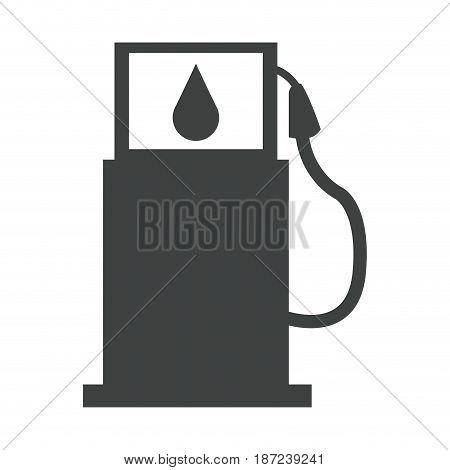 gasoline pump station full ecological image pictogram vector illustration