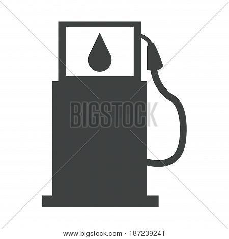 gasoline pump station full ecological image pictogram vector illustration
