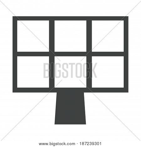 solar panel energy recycle environment sustainable pictogram vector illustration
