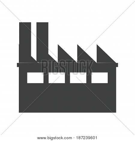 industrial building thermal hydro power energy pictogram vector illustration