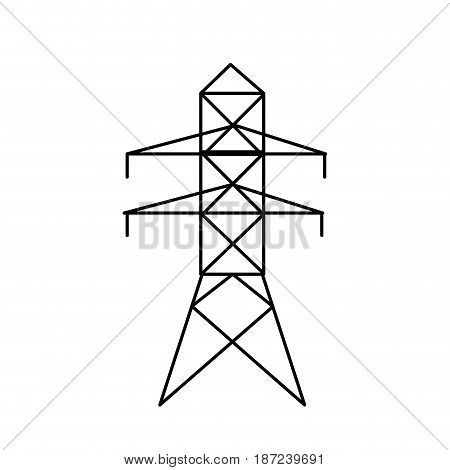 electricity power tower pyllon line vector illustration