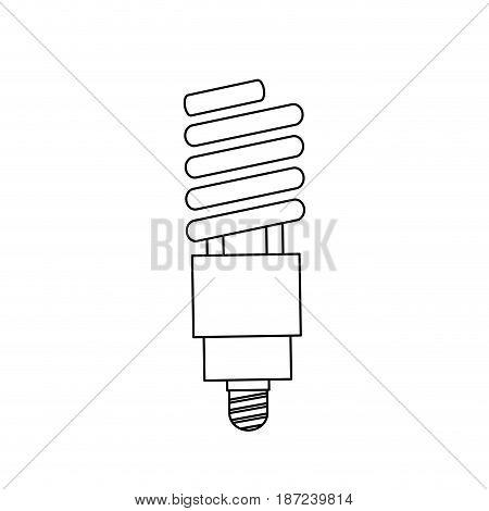 saving light bulb electricity energy line vector illustration