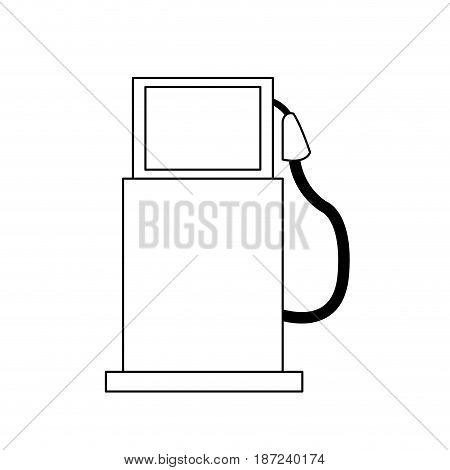 gasoline pump station full ecological line vector illustration