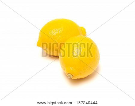 Fresh lemons isolated on a white background