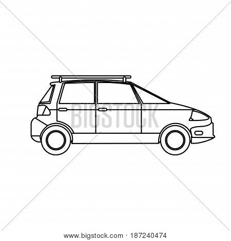 car transport ecology environment line vector illustration