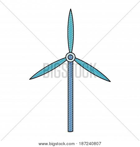 drawing wind turbine tower energy recycle design vector illustration