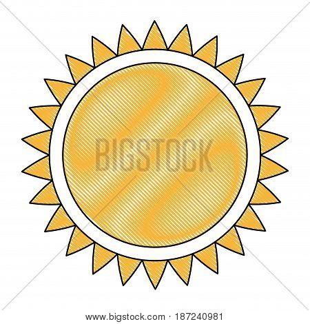 drawing sun solar energy environmental renewable vector illustration