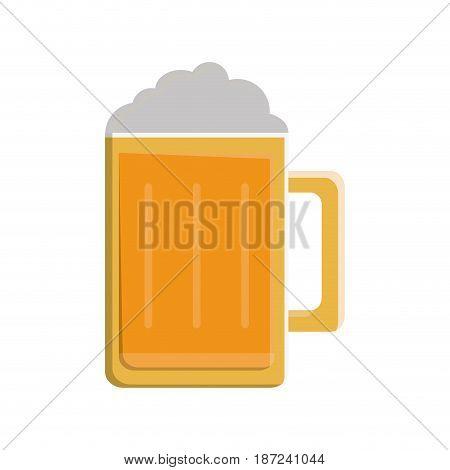Beer jar icon over white background. vector illustration