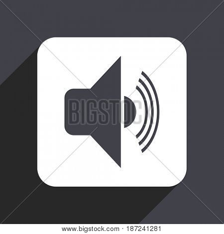 Volume flat design web icon isolated on gray background