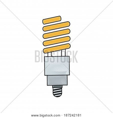drawing ecology bulb light electric halogen vector illustration