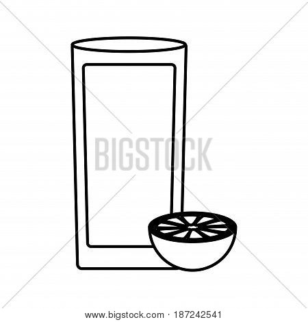 cocktail drink icon over white background. vector illustration