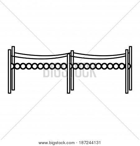 small bridge wooden fairy tale element vector illustration