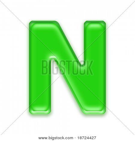 Aqua Buchstaben - N