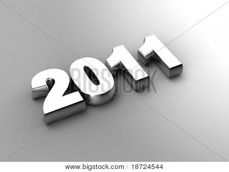 3d new year 2011 concept