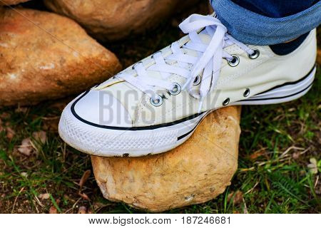 The White Chuck Taylor Shoes in thuringia