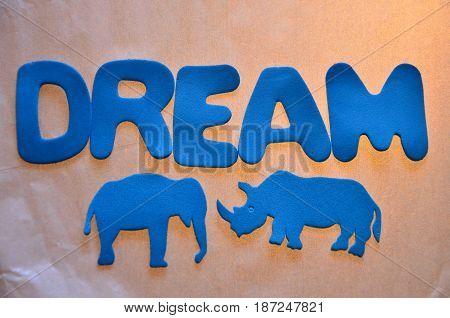 word ream on a  abstract colorful background