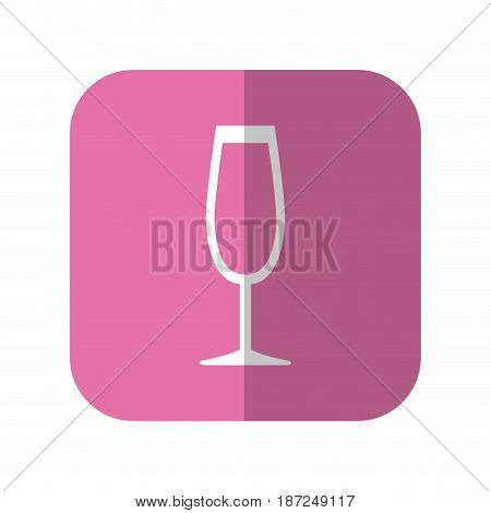 cocktail drink icon over pink square and white background. vector illustration