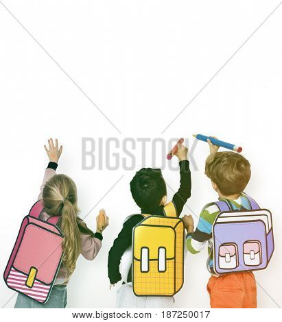 Classmates Friends Bag School Education