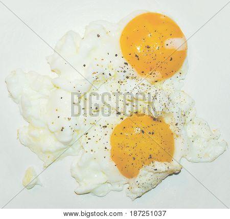 Fried Egg, Faded Vintage Look