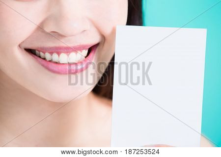 beauty skincare woman take picture with tooth whiten