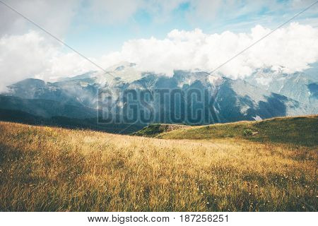 Mountains Landscape Summer Travel serene scenic atmospheric view