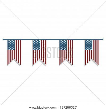 nice flags to decoration special day, vector illustration